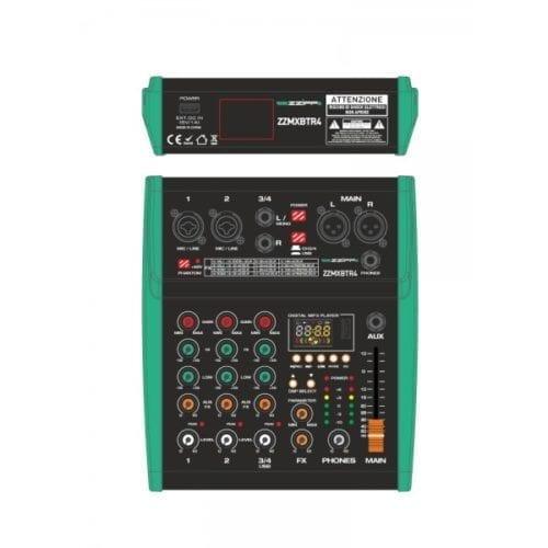 Mixer 4 canali DSP e Bluetooth